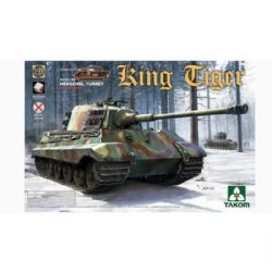 TANK -  WWII GERMAN HEAVY TANK SD.KFZ.182 KING TIGER HENSCHEL TURRET W/INTERIOR [WITHOUT ZIMMERIT] - 1/35
